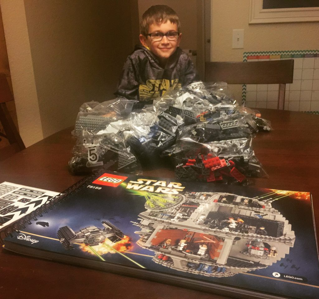 All 4016 pieces...with one happy boy